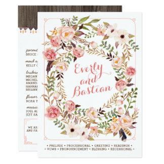 Programmes floraux rustiques de mariage