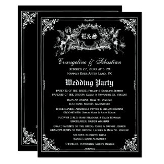 Programmes foncés de mariage de livre de contes de carton d'invitation  12,7 cm x 17,78 cm