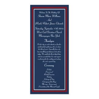 Programmes militaires patriotiques de mariage carton d'invitation  10,16 cm x 23,49 cm
