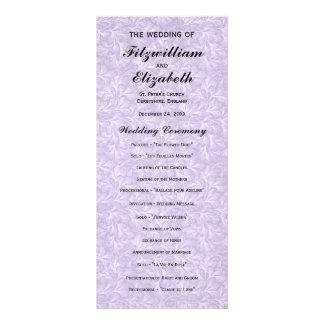 Programmes Romance de mariage de Regency Carte Double En Couleur