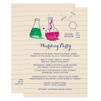 Programmes roses et verts de mariage de chimie