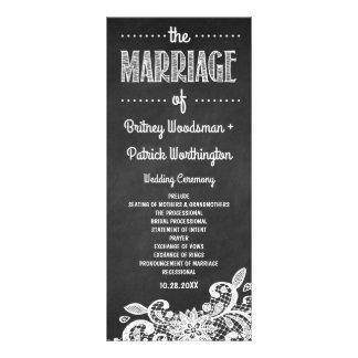 Programmes rustiques de tableau et de mariage de