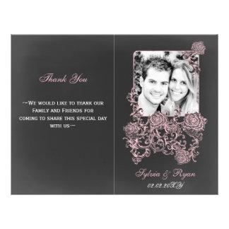 programmes se pliants floraux de mariage de photo prospectus 21,6 cm x 24,94 cm