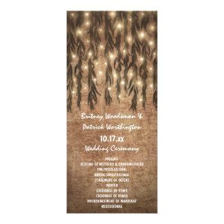 Programmes vintages pleurants de mariage de saule cartes doubles customisables