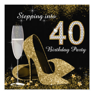 Progression dans la fête d'anniversaire 40 carton d'invitation  13,33 cm