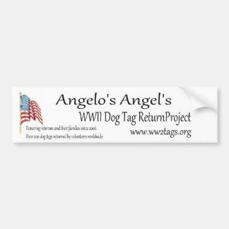 Projet de retour d'étiquette de chien de 2ÈME Autocollant De Voiture