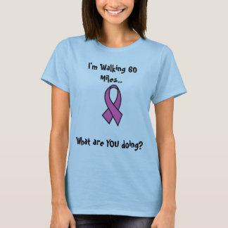 Promenade de cancer du sein t-shirt