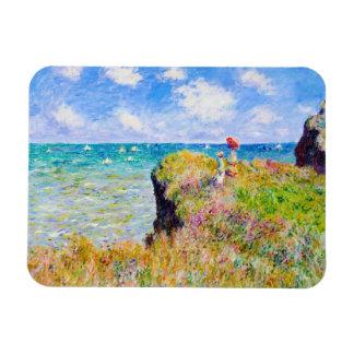 Promenade de Clifftop chez Pourville Claude Monet Magnets