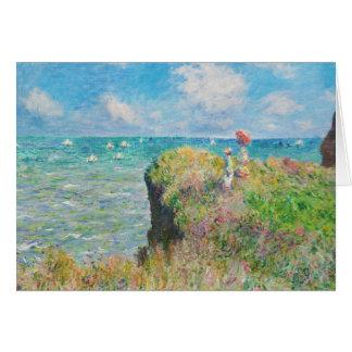 Promenade de falaise de Monet à la carte de voeux