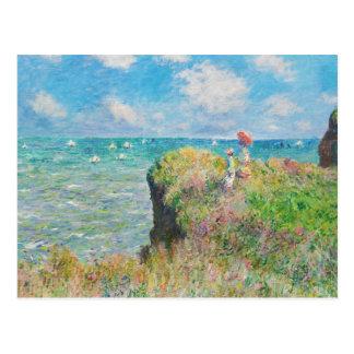 Promenade de falaise de Monet chez Pourville Carte Postale