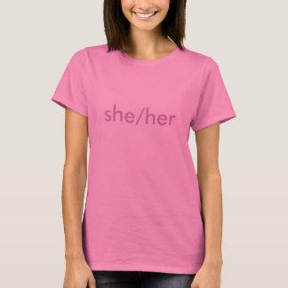 Pronoms femelles de genre : Elle et elle T-shirt