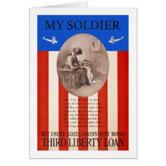 Propagande de la prière WWI de prêt de liberté de Carte