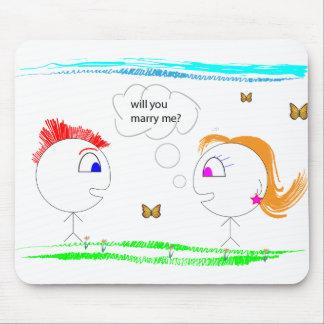 Proposition de mariage originale tapis de souris