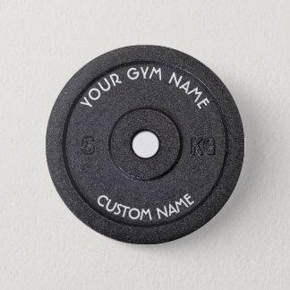 Propriétaire ou utilisateur de gymnase avec le badge rond 5 cm