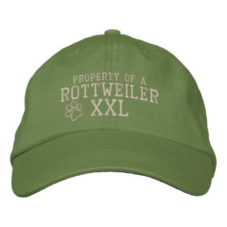 Propriété d un chapeau brodé par rottweiler