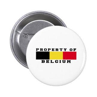 Propriété de la Belgique Badge Rond 5 Cm