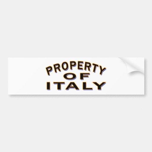 Propriété de l'ITALIE Autocollants Pour Voiture