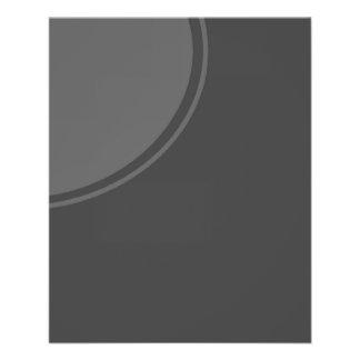 Prospectus 11,4 Cm X 14,2 Cm Cercle gris-foncé de mod