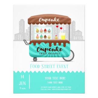 Prospectus 11,4 Cm X 14,2 Cm Desserts de bonbon à petit gâteau de rue de