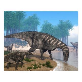 Prospectus 11,4 Cm X 14,2 Cm Dinosaures d'Iguanodon