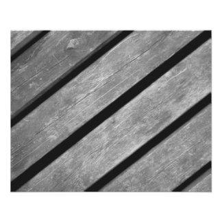 Prospectus 11,4 Cm X 14,2 Cm Image noire et blanche des planches en bois