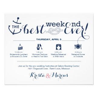 Prospectus 11,4 Cm X 14,2 Cm Itinéraire nautique 2 de week-end de mariage