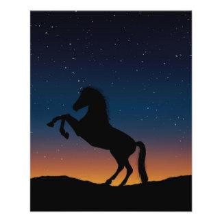 Prospectus 11,4 Cm X 14,2 Cm Nature animale de cheval