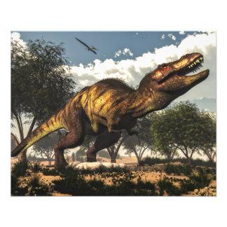 Prospectus 11,4 Cm X 14,2 Cm Rex de Tyrannosaurus et ses oeufs