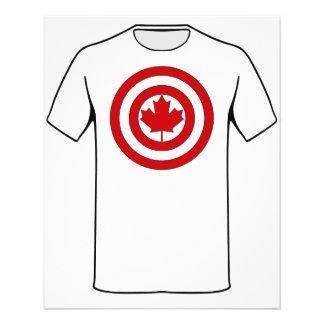 Prospectus 11,4 Cm X 14,2 Cm Symbole de bouclier de capitaine Canada