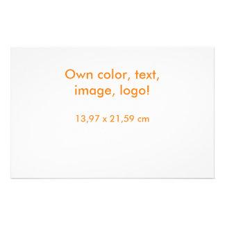 Prospectus 14 Cm X 21,6 Cm D'insecte blanc uni - posséder la couleur