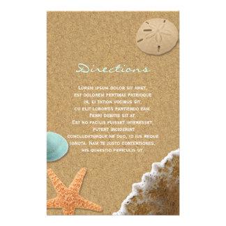 Prospectus 14 Cm X 21,6 Cm Directions de sable et de plage de coquilles
