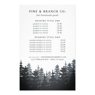 Prospectus 14 Cm X 21,6 Cm Évaluation et services de forêt d'hiver