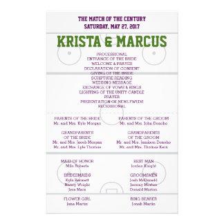 Prospectus 14 Cm X 21,6 Cm Match du programme de mariage de siècle