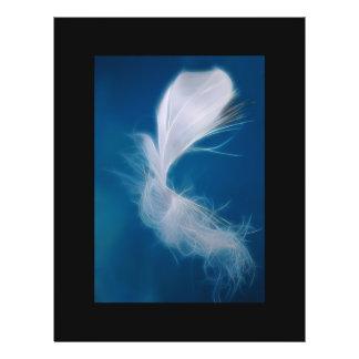 Prospectus 21,6 Cm X 24,94 Cm Art de plume blanche - symbole de la pureté et de