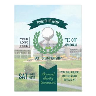 Prospectus 21,6 Cm X 24,94 Cm Club/publicité d'entreprise de tournoi de golf