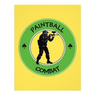 Prospectus 21,6 Cm X 24,94 Cm Combat de Paintball