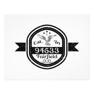 Prospectus 21,6 Cm X 24,94 Cm Établi dans 94533 Fairfield