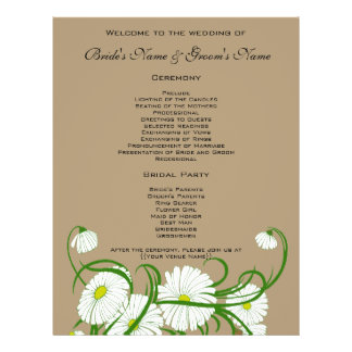 Prospectus 21,6 Cm X 24,94 Cm Fleurs blanches vintages de marguerite de Gerber