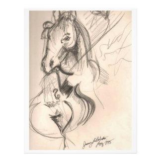 Prospectus 21,6 Cm X 24,94 Cm Insecte de dessin de violoncelle de cheval