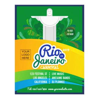 Prospectus 21,6 Cm X 24,94 Cm La coutume de carnaval de Rio de Janeiro ajoutent