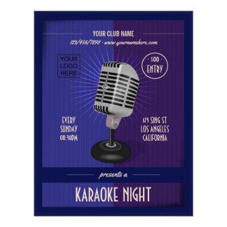 Prospectus 21,6 Cm X 24,94 Cm Le club/partie d'entreprise de karaoke ajoutent la