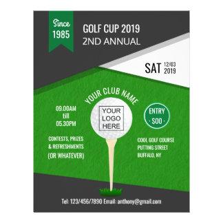 Prospectus 21,6 Cm X 24,94 Cm Le club/tournoi d'entreprise de golf ajoutent