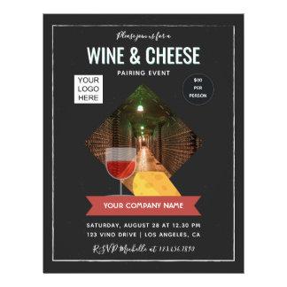 Prospectus 21,6 Cm X 24,94 Cm Le vin et le fromage appareillant l'événement