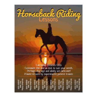 Prospectus 21,6 Cm X 24,94 Cm Leçons d'équitation. Cheval Boarding.Trails
