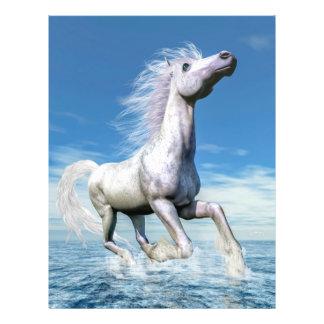 Prospectus 21,6 Cm X 24,94 Cm Liberté de cheval blanc - 3D rendent