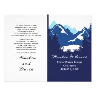 Prospectus 21,6 Cm X 24,94 Cm Montagnes bleues et conifes pliés épousant le