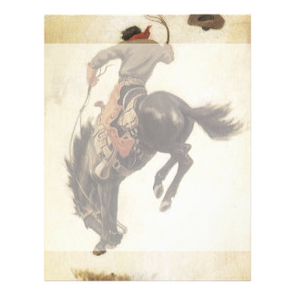 Prospectus 21,6 Cm X 24,94 Cm Occidental vintage, cowboy sur un cheval