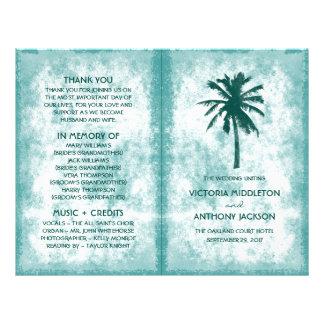 Prospectus 21,6 Cm X 24,94 Cm Programme tropical de mariage de plage de palmier