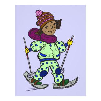Prospectus 21,6 Cm X 24,94 Cm Ski de neige de fille