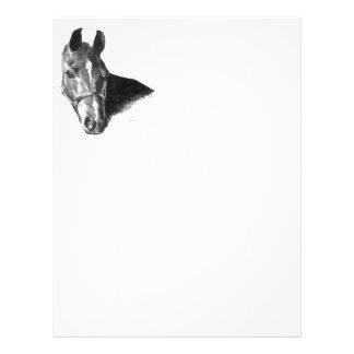 Prospectus 21,6 Cm X 24,94 Cm Tête de cheval de graphite